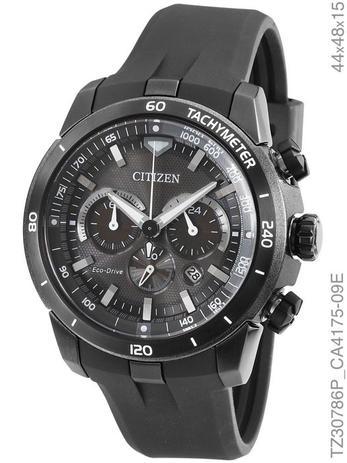 ab626b739d2 Relógio Citizen Eco Drive TZ30786P Cronógrafo Preto - Relógio ...