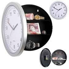 Imagem de Relogio cofre camuflado de parede porta joias e dinheiro fundo secreto com 3 prateleiras