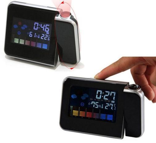 8f58edc4d99 Relogio Com Projetor Horas Higrômetro E Termômetro Mede Temperatura e  Desperta Luz Led (BSL-REL-53) - Braslu