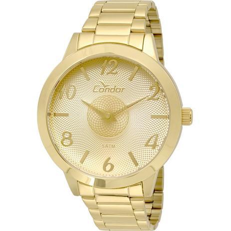 ab3004e5980 Relógio Condor Feminino Analógico Dourado CO2036KOU 4D - Relógio ...