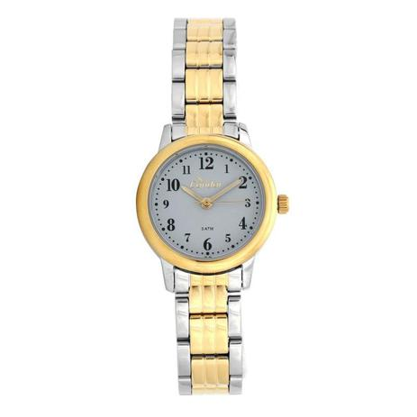 cc92e41a68e Relógio Condor Feminino Dourado com Prata - CO2035KTX-5A - Technos ...