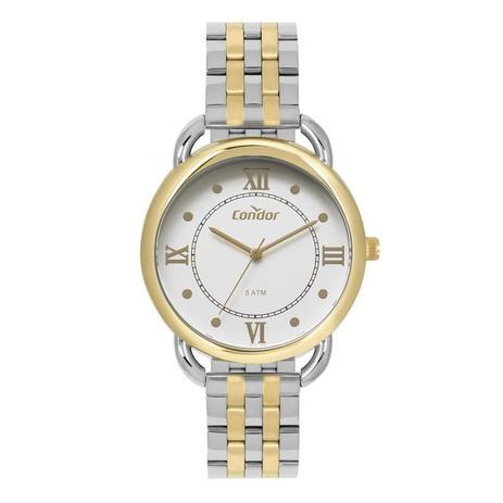 ab0b32c5955 Relógio Condor Feminino Dourado e Prata - CO2035MPR-5K - Technos ...