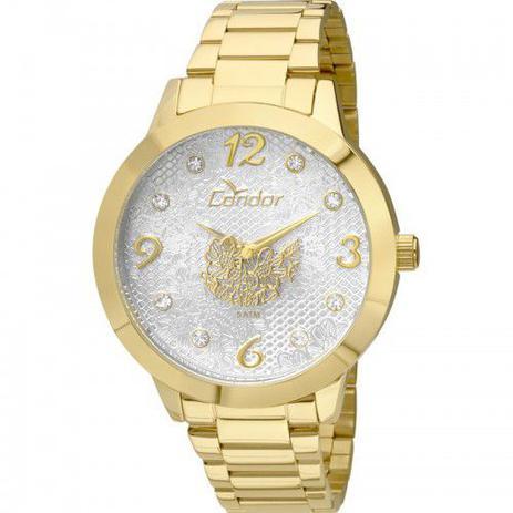 6639b5da36e Relógio Condor Feminino Dourado Fashion CO2036DH 4B - Relógio ...