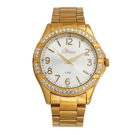 efcae213705 Relógio Condor Feminino Dourado Fundo Branco - CO2035KUS-4K - Technos