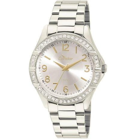 cfec5427513 Relógio Condor Feminino Prata com Dourado - CO2035KUT-3K - Technos ...