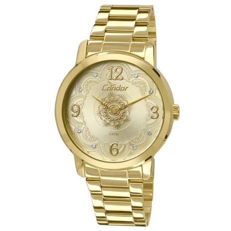 776beb237a3 Relógio Condor Feminino Ref  Co2036cn 4x Mandala Dourado - Relógio ...