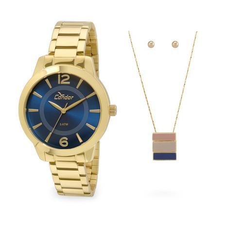 d7abe26f501f0 Relógio Condor Kit Feminino Co2035kqe k4a,c garantia E Nf - Relógio ...