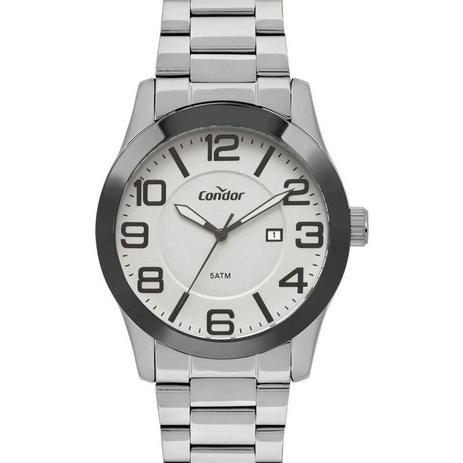 06dae4a8543 Relógio Condor Masculino Ref  Co2115ktr k3c Casual Prateado ...