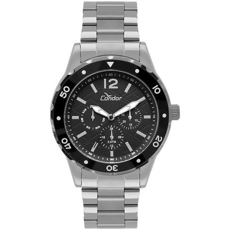 115dac966d0 Relógio Condor Masculino Ref  Co6p29ir 3p Traveller Multifunção Prata