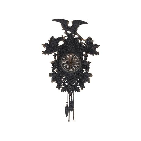 0ad557af897 Relógio de Ferro de Parede Preto Tipo Cuco - Goods br - Relógio de ...