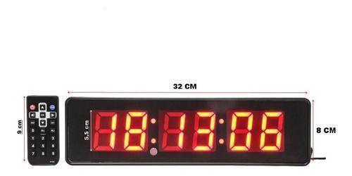 Imagem de Relógio de Led Digital e cronometro para parede ou mesa C/ Controle JH120