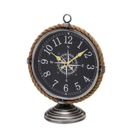 b3903c374bf Relógio de Mesa Bússola com Detalhe em Corda Mundi 35 cm - Espressione