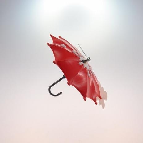 e1b6e84573f Relógio De Mesa Guarda Chuva Vermelho Plástico 15x15 Cm - Maisaz ...