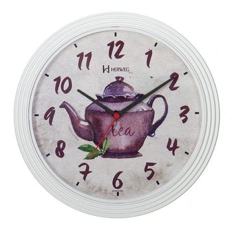 2f73878299b Relógio de parede analógico decorativo bule ideal para cozinha copa herweg  branco