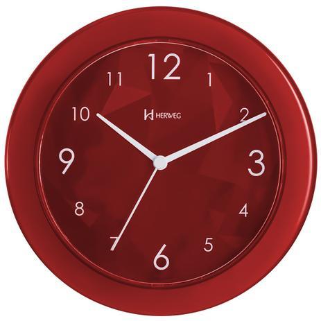 Imagem de Relógio de parede analógico decorativo design moderno herweg rubi imac