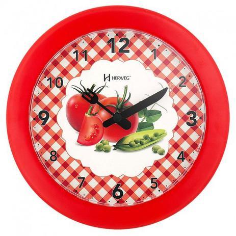 e502f59b2e6 Relógio de parede analógico decorativo ideal para cozinha herweg vermelho