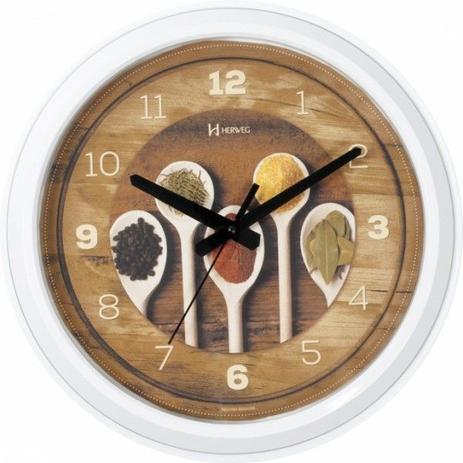 8c4a6be9fd4 Relógio de parede analógico decorativo temperos ideal para cozinha herweg  branco