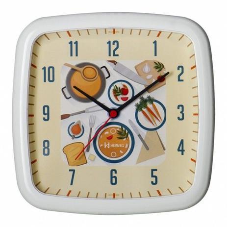 b8a72f6cbaa Relógio de parede analógico decoratvio ideal para cozinha herweg branco