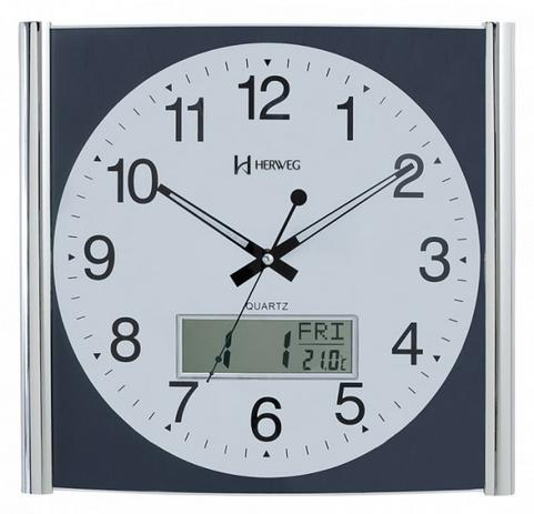 b00d79b2131 Relógio De Parede Analógico - Digital Herweg Ref  6420-098 ...