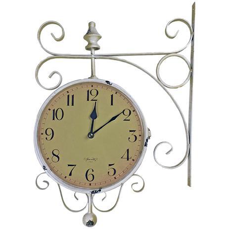 625554e9ff7 Relógio de Parede com Suporte para Pendurar - Decoração Retrô Vintage  Estação de Trem de Roma 1963 - R3p import