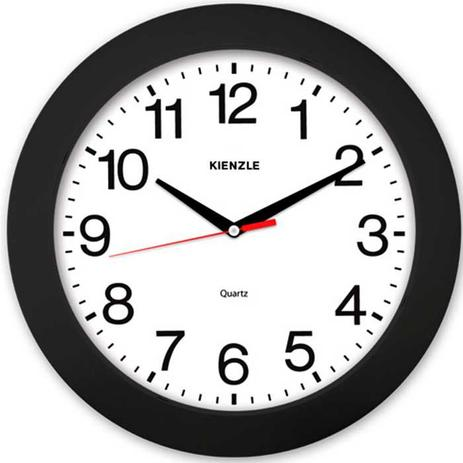 5fe07398767 Relógio de Parede Constellation 5374 02 37cm Preto e Branco - Kienzle