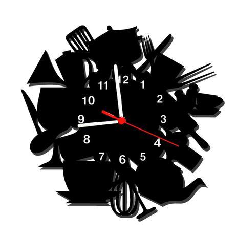 67f11ec21a3 Relógio de Parede Decorativo - Modelo Bagunça na Cozinha - Me criative