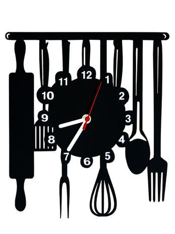Imagem de Relógio de Parede Decorativo - Modelo Cozinha