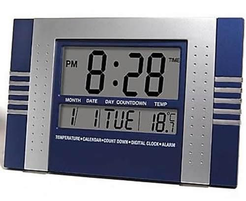 Imagem de Relógio De Parede Digital com Data e Medidor de Tempera
