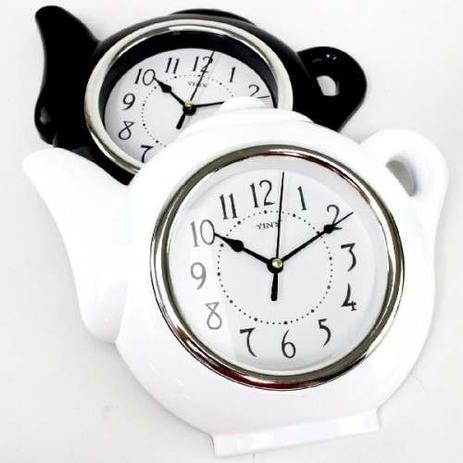 bda6262bd65 Relógio de Parede em Formato de Chaleira Design Sofisticado - All green