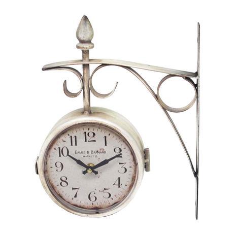 46613957e6a Relógio De Parede Estação Duas Face Oldway Branco - Decoração ...