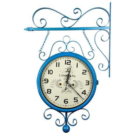 484cc06b0d0 Relógio de Parede Face Dupla para Decoração - Estilo Estação Antiga de Trem  - La Tour Du Pin