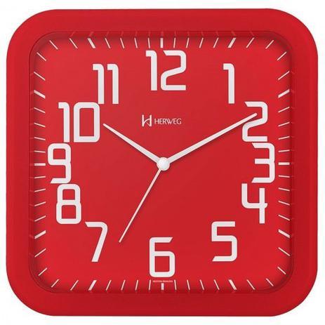 6a86b06b332 Relógio de parede moderno analógico mecanismo step herweg vermelho ...