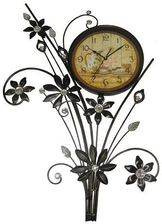 fbe8bc689f1 Relogio De Parede Para Vintage Flores Retro Antigo Ferro (REL-43) - Ab midia