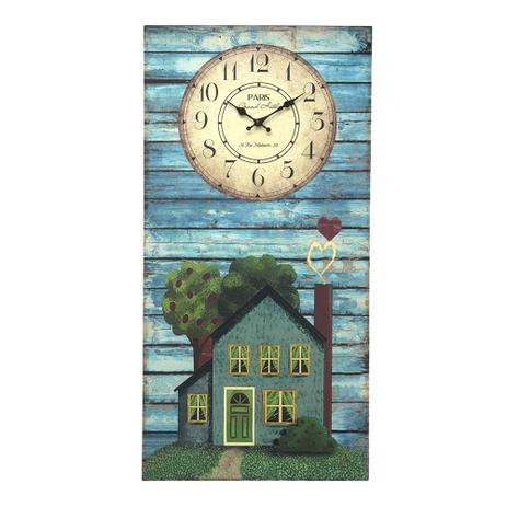 897366169ef Relógio de Parede Quadro Casinha Grand Hotel Paris 80 cm - Espressione