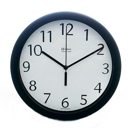 27550d43cf0 Relógio de parede redondo moderno analógico alumínio fundo herweg branco
