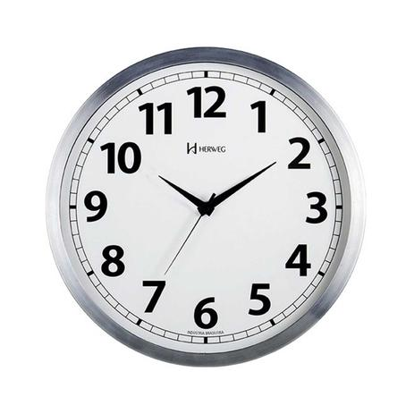 5657765e621 Relógio de Parede Redondo Quartzo Herweg 6710 - Decoração - Magazine ...