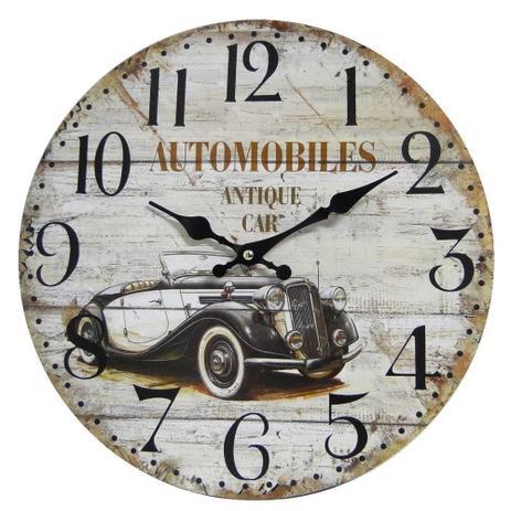 5b0c49b1892 Relógio de Parede Retro Rústico CARRO ANTIGO CBRN01941 - Commerce brasil