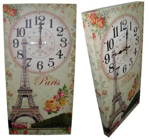 2bb53804fb6 Relogio De Parede Vintage Retro Para Decoracao Paris (XIN-04) - Braslu