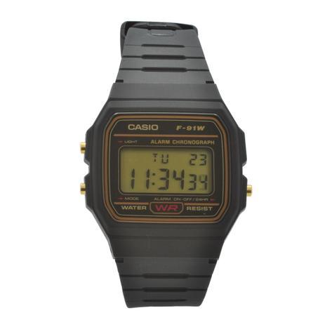 2572810abd96 Relógio de Pulso Casio Masculino F-91WG-9QDF - Preto - Relógio ...