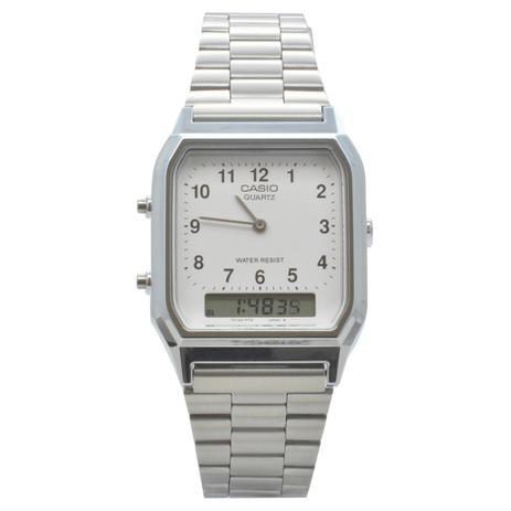44159860a21 Relógio de Pulso Casio Vintage Unissex AQ-230A-7BMQ - Prata ...