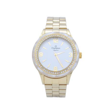 9274dab2dff Relógio de Pulso Champion Elegance Feminino CN27241H - Dourado com Detalhe  em Madrepérola - Champion watch