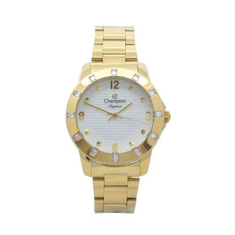 4255c9c7d1b Relógio de Pulso Champion Feminino Kit com Brinco e Corrente CN27312W -  Dourado - Champion watch