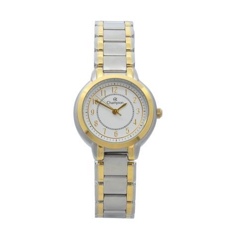 8aa5c4d2b2f Relógio de Pulso Champion Feminino Kit com Brinco e Corrente CN28222W -  Prata com Dourado - Champion watch