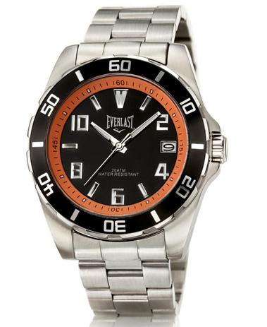 f95be0583cb Relógio de Pulso Everlast com Pulseira em Aço E285 Masculino ...