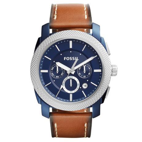 029b2d5bde1 Relógio de Pulso Fossil Masculino com Pulseira de Couro FS5232 OAN - Azul