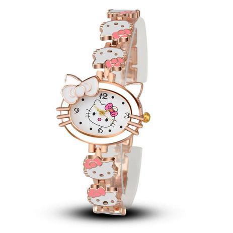 714bae17263 Relógio de Pulso Hello Kitty Cristal Branco - Outras marcas ...