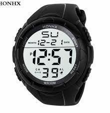 Imagem de Relógio de Pulso HNH Masculino Militar Digital Esportes ao Ar Livre Data Hora Luminosa Cronômetro