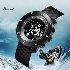 Imagem de Relógio de Pulso KAK Masculino Militar Digital Esportes ao Ar Livre Data Hora Luminosa Cronômetro