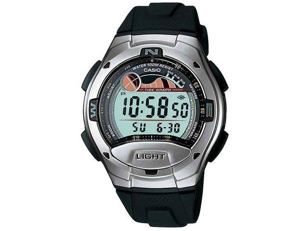 589267e8689 Relógio de Pulso Masculino Social Digital - Cronômetro Bússola Fases da Lua Casio  W 753 1AVDF