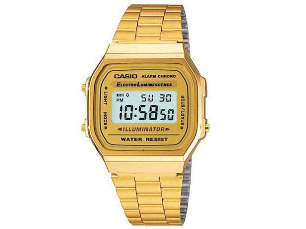 9ea37cc743a Relógio de Pulso Masculino Social Digital - Cronômetro - Casio A-168WG-9WDF  Mundial
